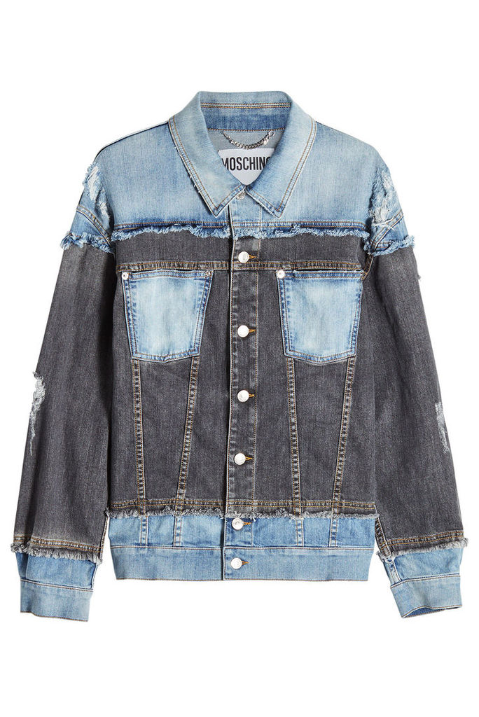 Moschino Distressed Denim Jacket