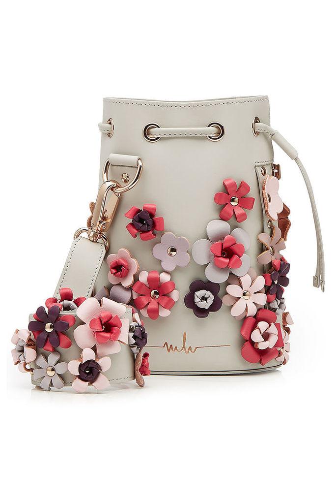Marina Hoermanseder Embellished Leather Drawstring Bag
