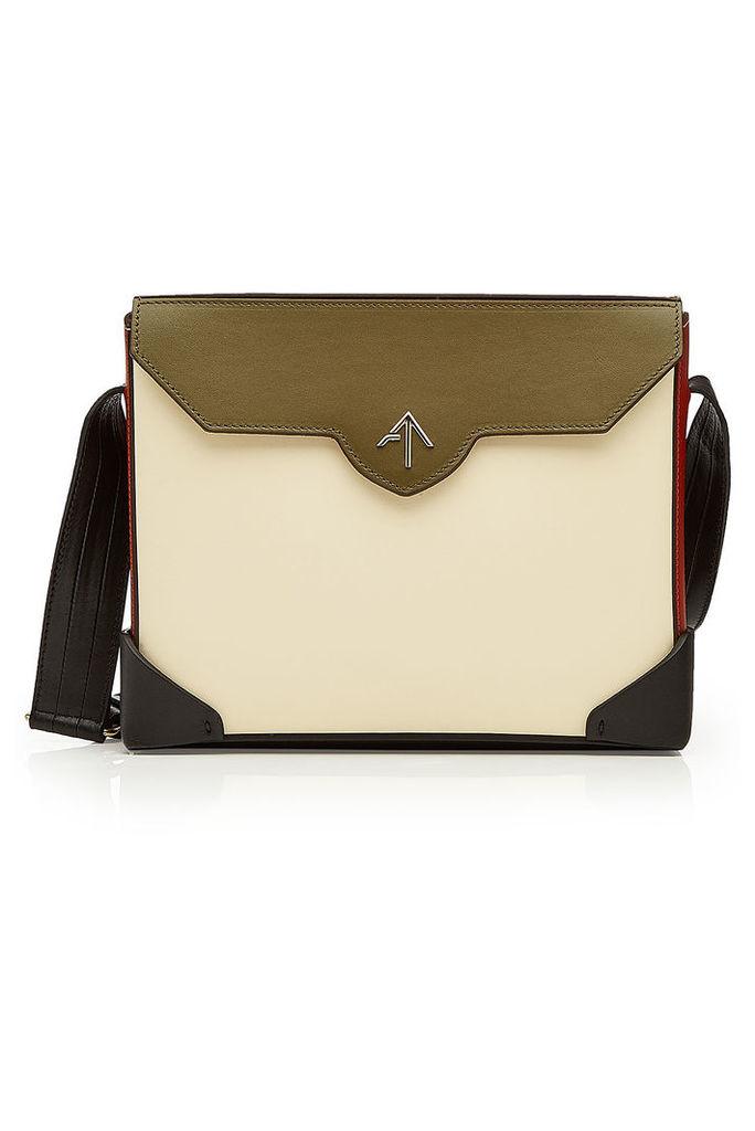 Manu Atelier Bold Leather Shoulder Bag