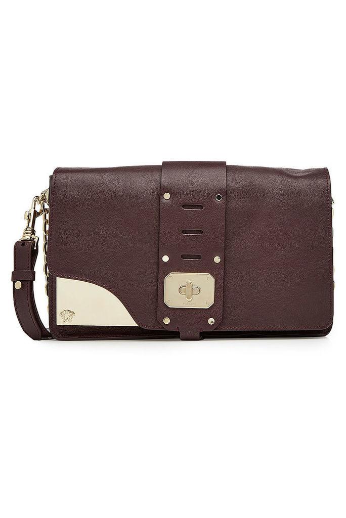 Versace Stardust Leather Shoulder Bag