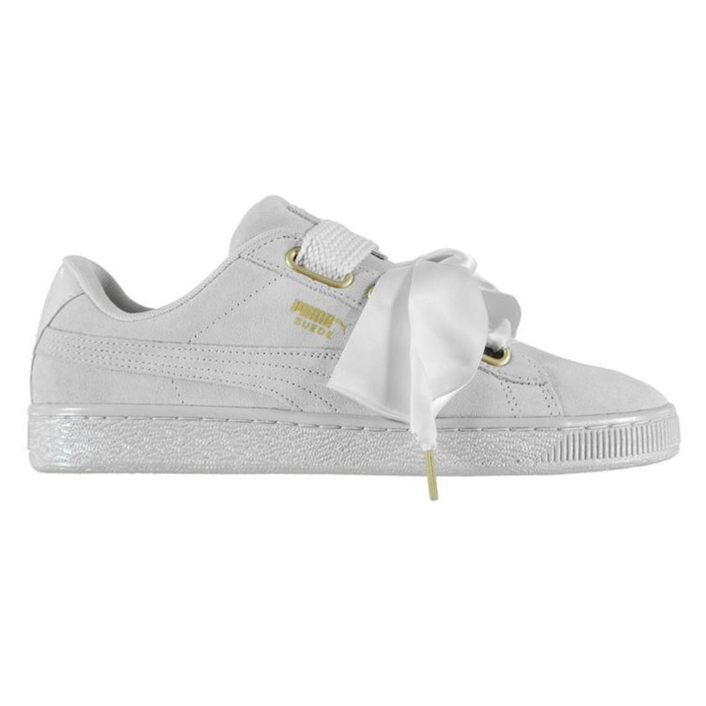 Puma Suede Heart Satin Trainers