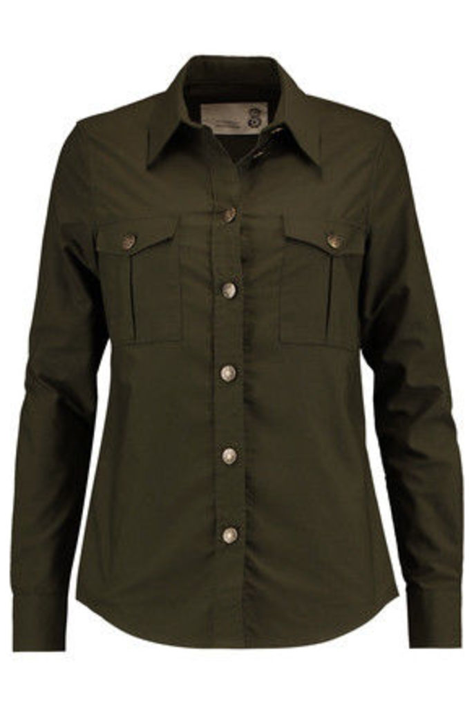 8 - Cotton-twill Shirt - Army green