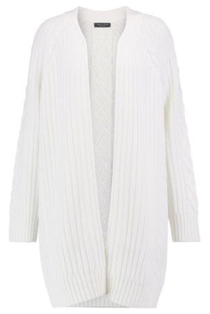 rag & bone - Kiera Wool And Cotton-blend Cable-knit Cardigan - Ivory