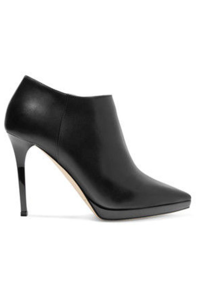 Jimmy Choo - Lindsey Leather Ankle Boots - Black