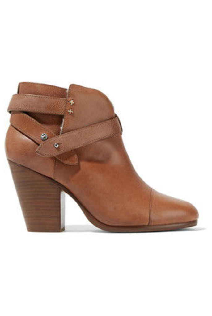 rag & bone - Harrow Shearling-lined Leather Ankle Boots - Brown