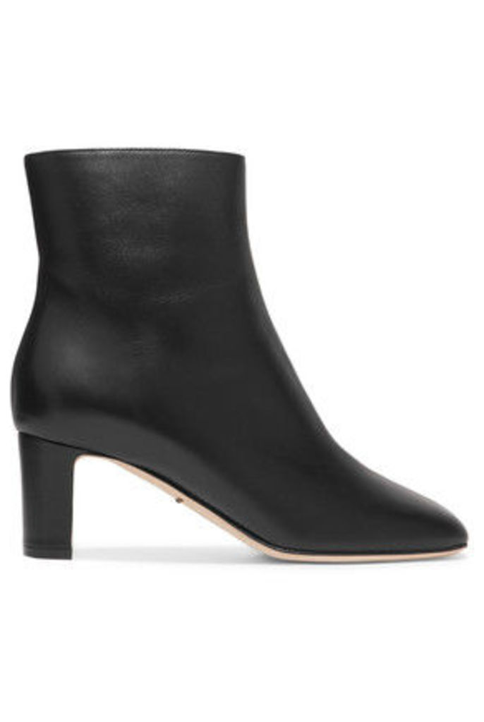 Dolce & Gabbana - Biker Leather Ankle Boots - Black