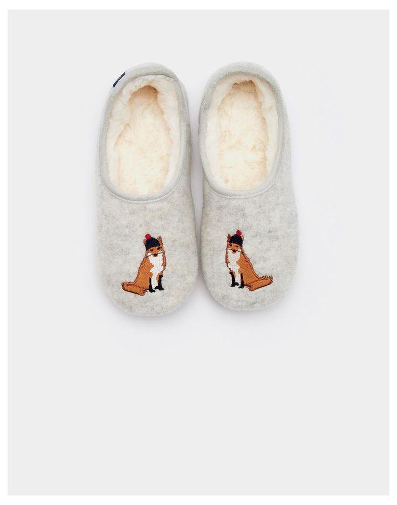 Cream Marl Slippets Mule Slippers  Size M   Joules UK