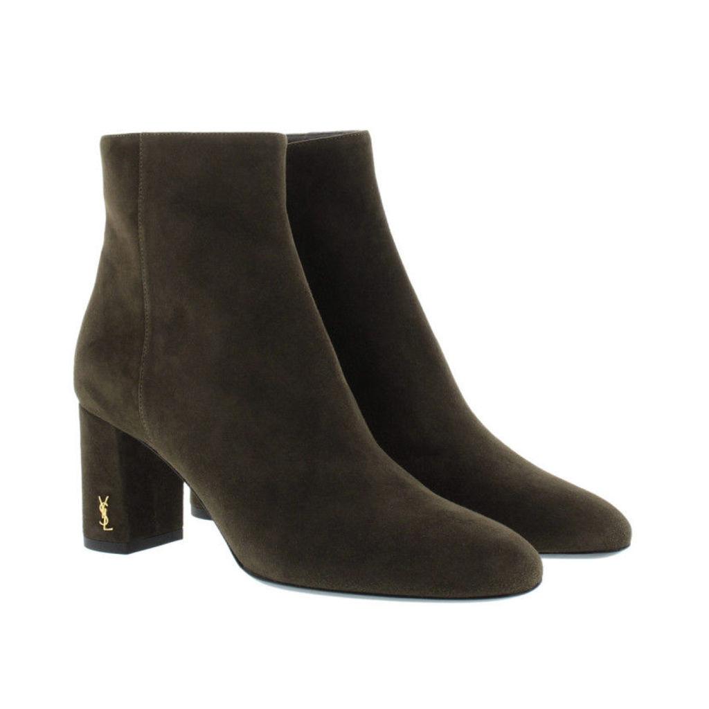 Saint Laurent Boots & Booties - Lou Lou 70 Zip Bootie Army Green - in green - Boots & Booties for ladies