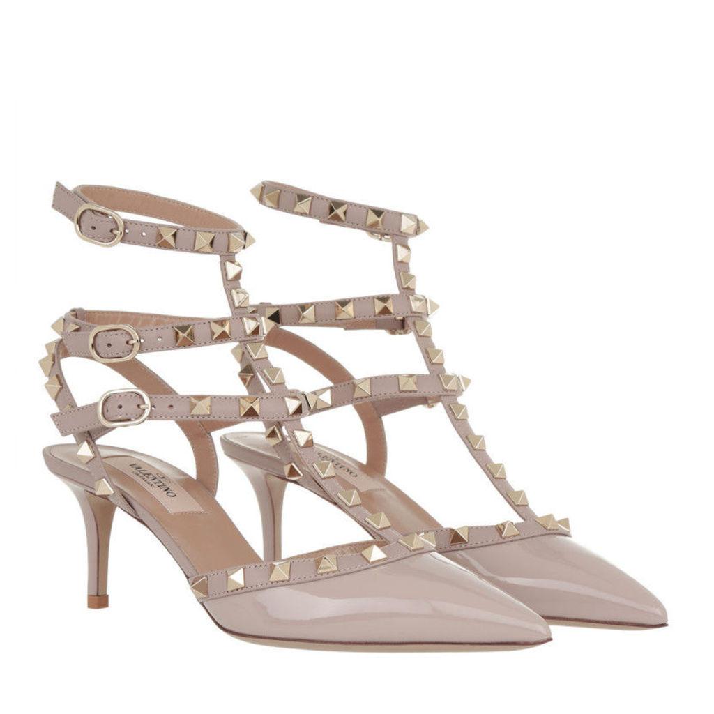 Valentino Pumps - Rockstud Ankle Strap Sandali Con Tacco Poudre - in rose - Pumps for ladies