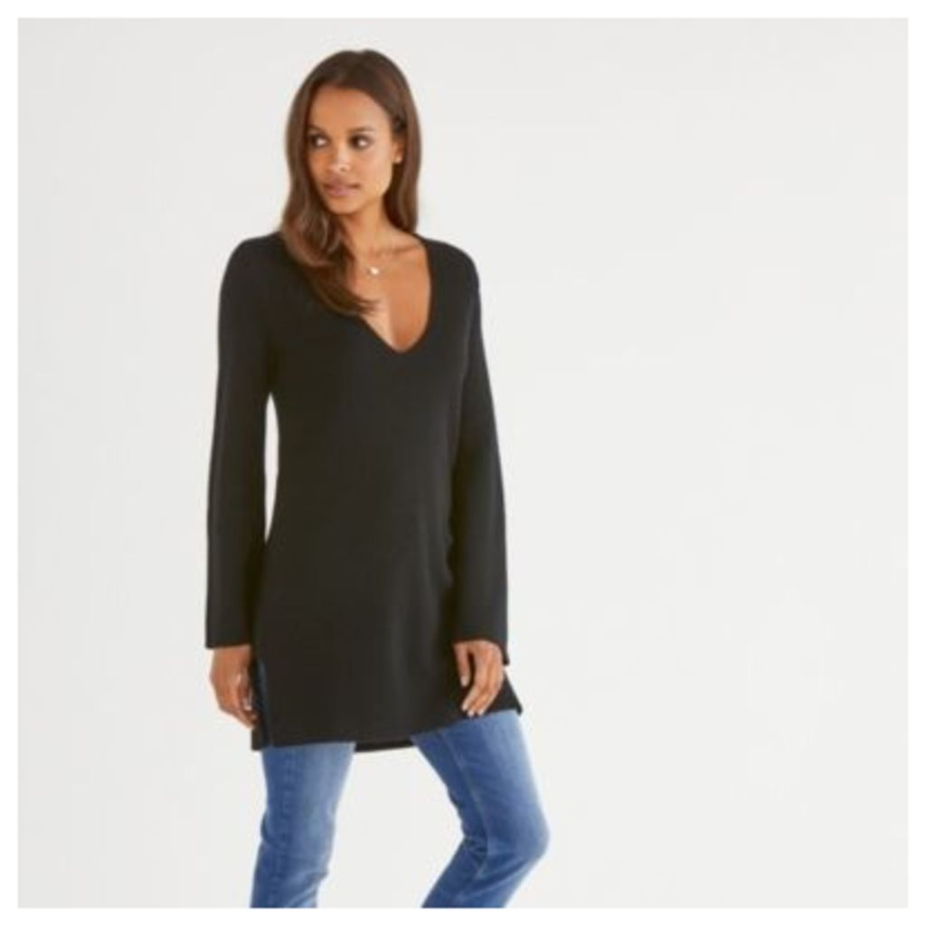 Ribbed Tunic With Cashmere