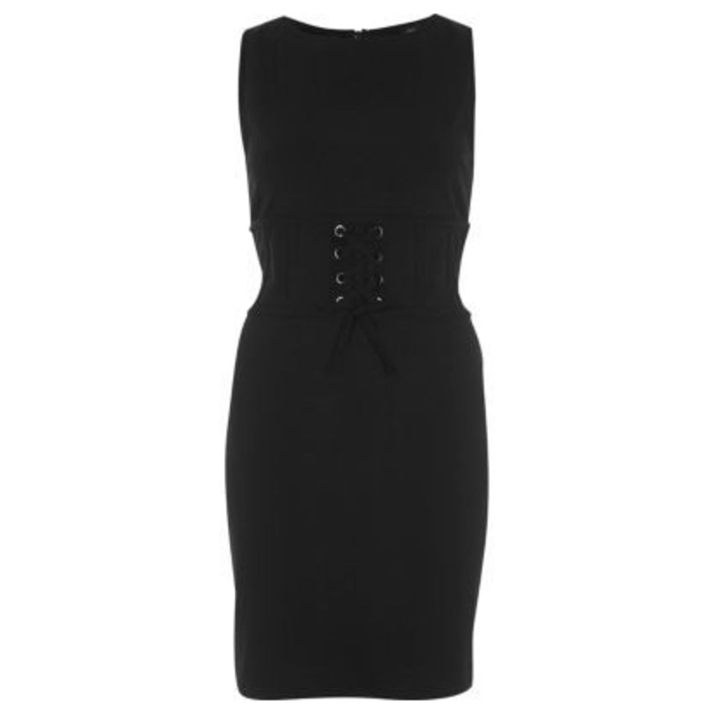 River Island Womens Black corset bodycon dress