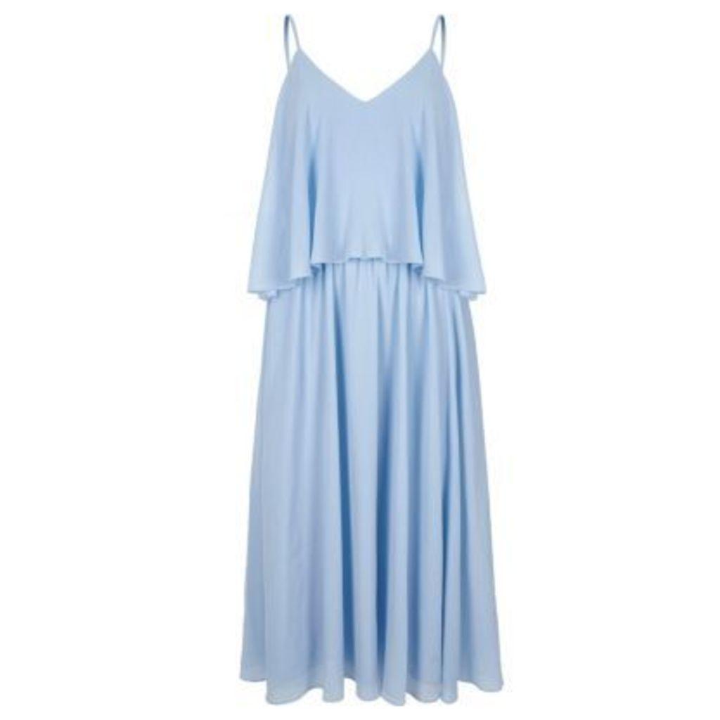 River Island Womens Light Blue layer cami midi dress