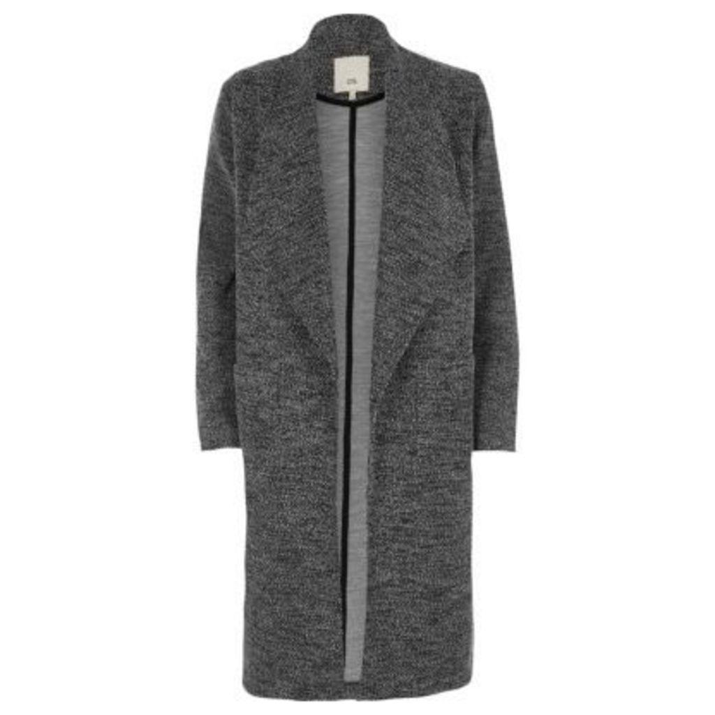 River Island Womens Grey tweed fallaway jacket