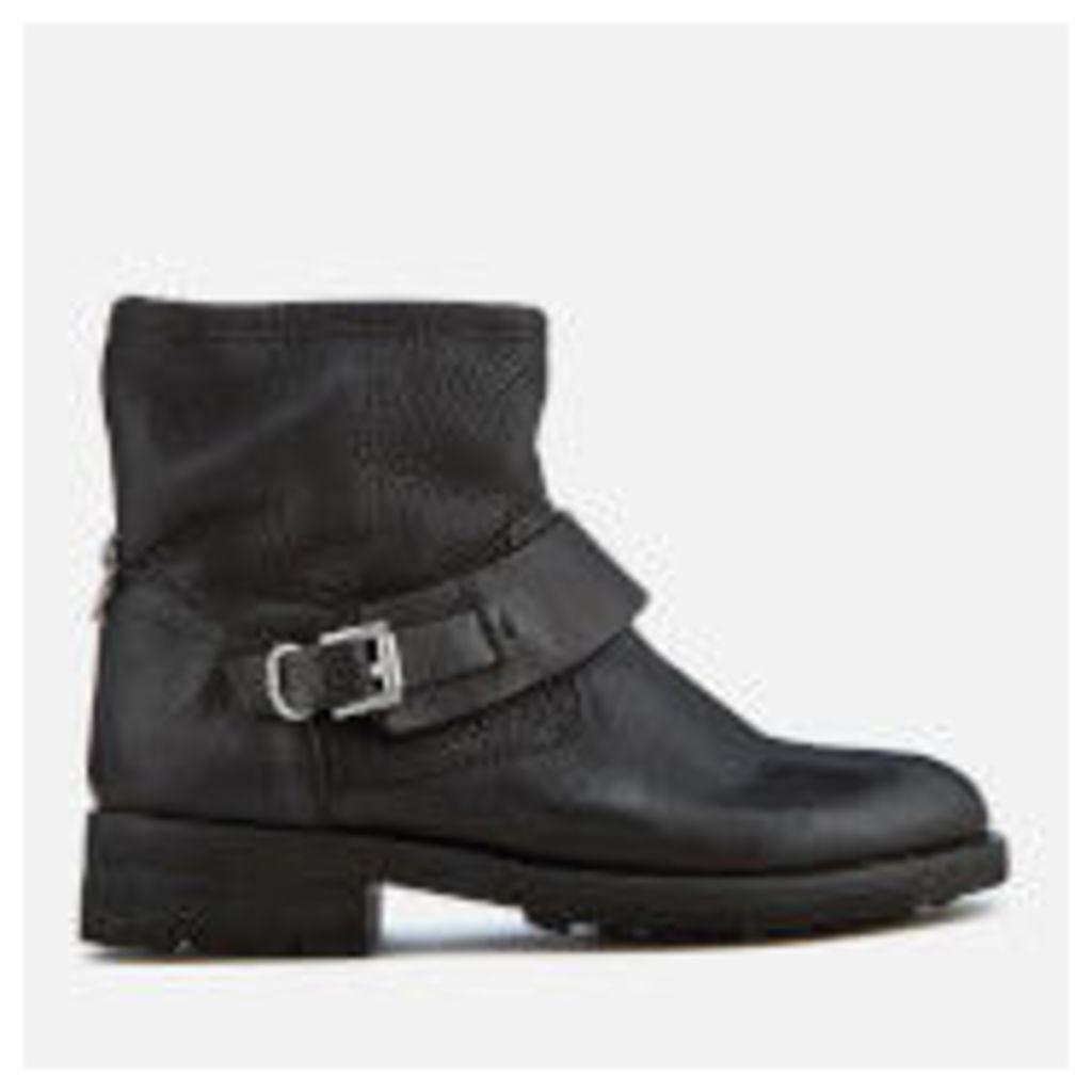 Hudson London Women's Mac Leather Biker Boots - Black