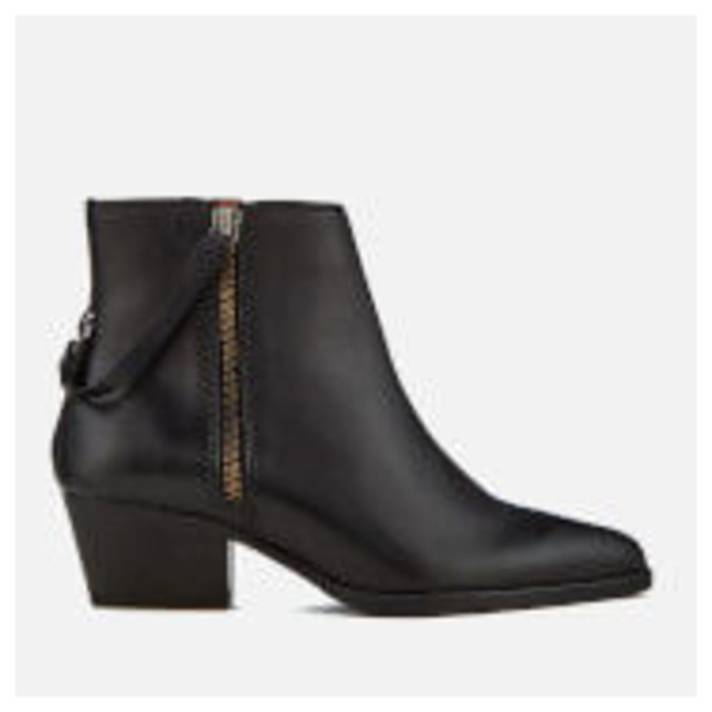 Hudson London Women's Larry Leather Heeled Ankle Boots - Black