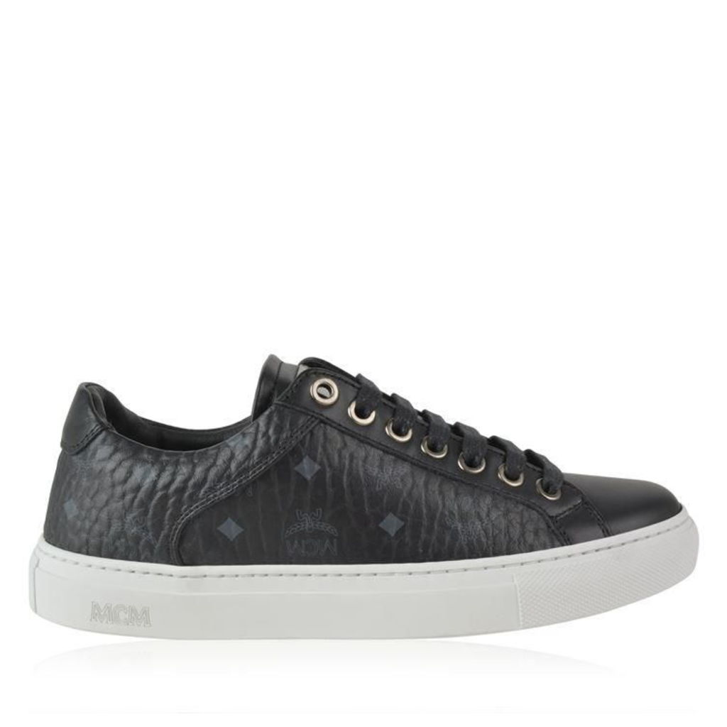 MCM Gold Eyelet Trainers