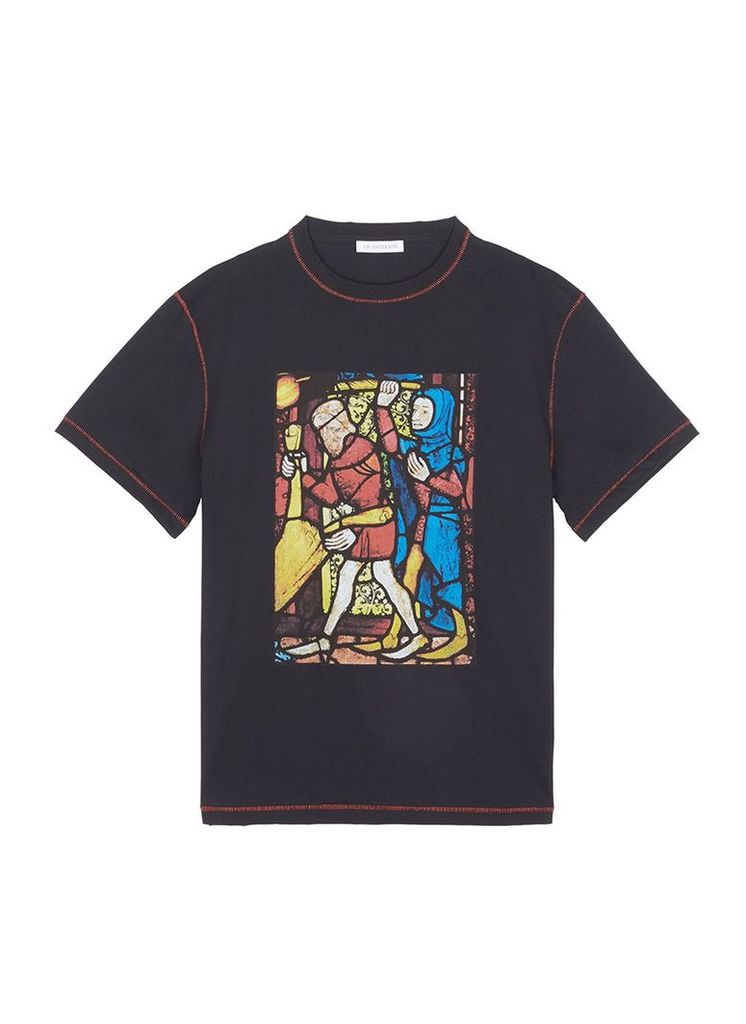Stain glass print unisex T-shirt