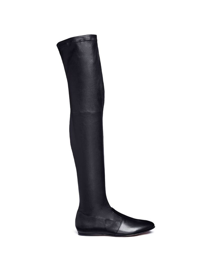 'Guepe' thigh high leather sock boots
