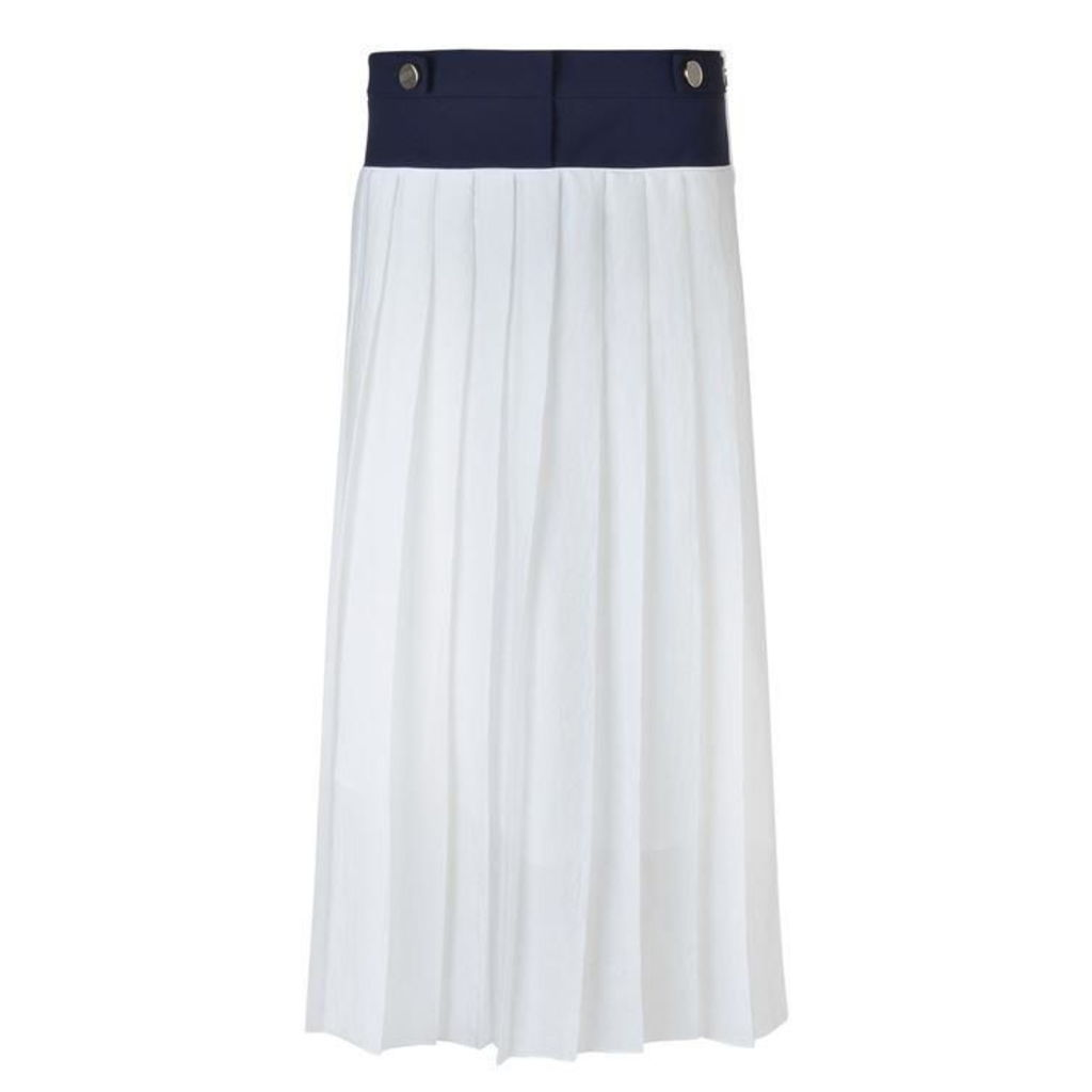 VICTORIA BY VICTORIA BECKHAM Soft Crepe Pleated Skirt