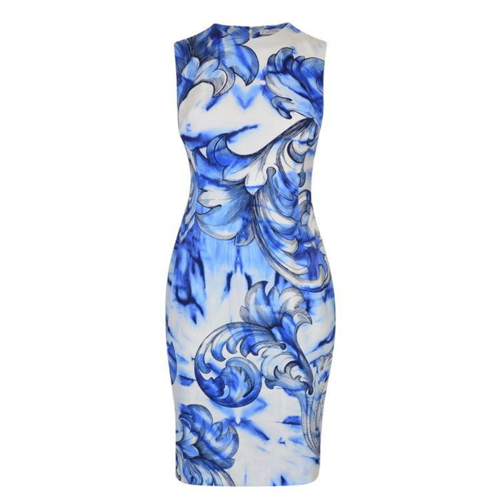 VERSACE COLLECTION Printed Leaf Dress