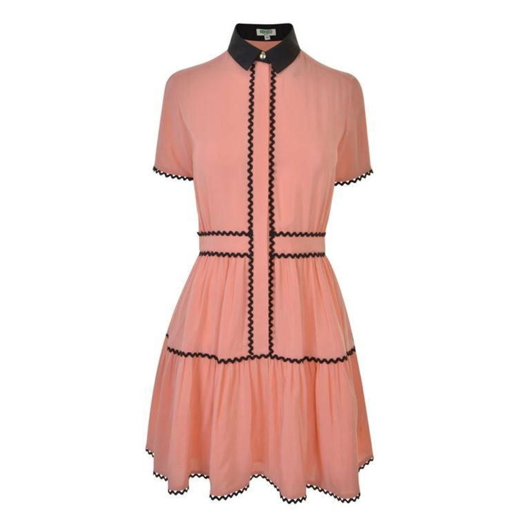 KENZO Crepe Ruffle Dress