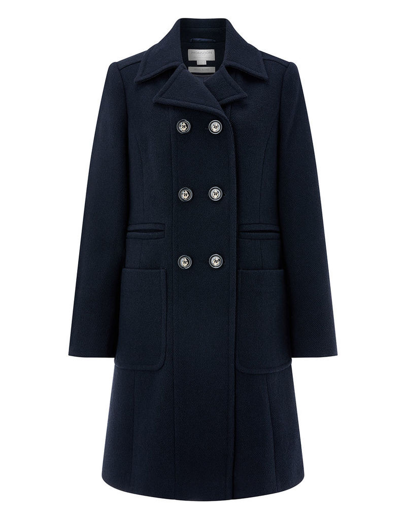 Heather Button Coat
