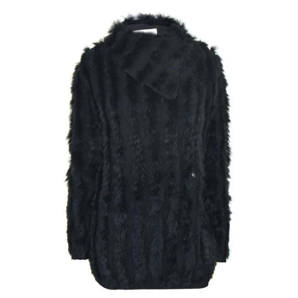 PATRIZIA PEPE Rabbit Fur Cardigan
