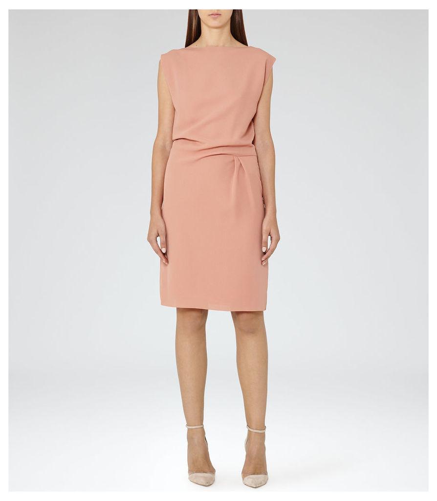 REISS Kier - Pleat-detail Dress in Pink, Womens