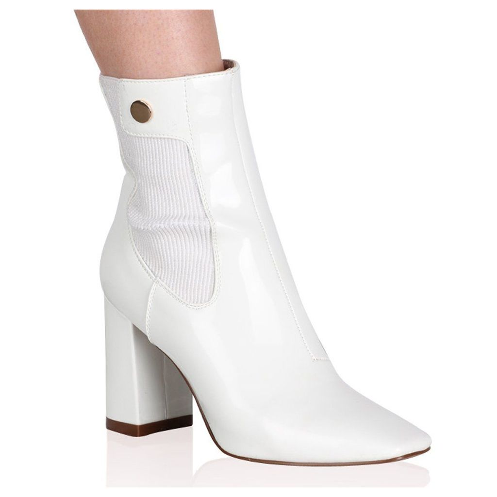 Trisha Ankle Boots  Patent, White