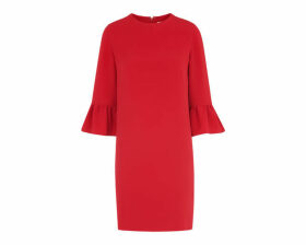Raven Fluted Sleeve Dress