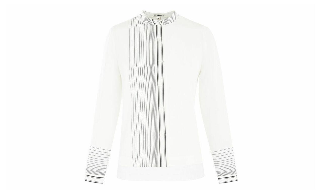 Maisy Stripe Silk Shirt