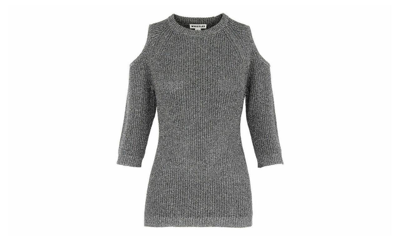Sparkle Cold Shoulder Knit