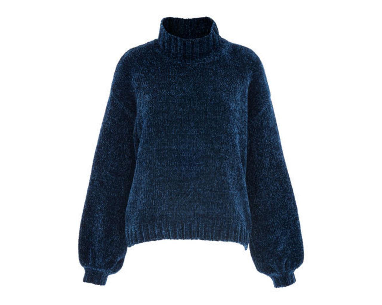 Chenille Funnel Neck Knit