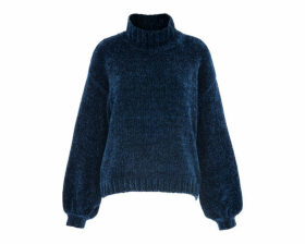 Chenille Funnel Neck Knit