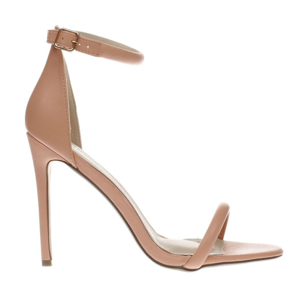 missguided pale pink strap barely there high heels