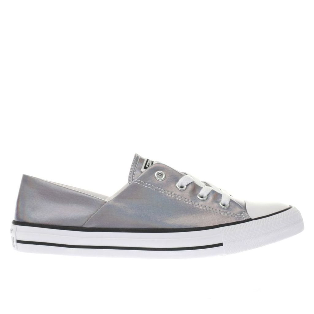 converse silver coral iridescent ox trainers