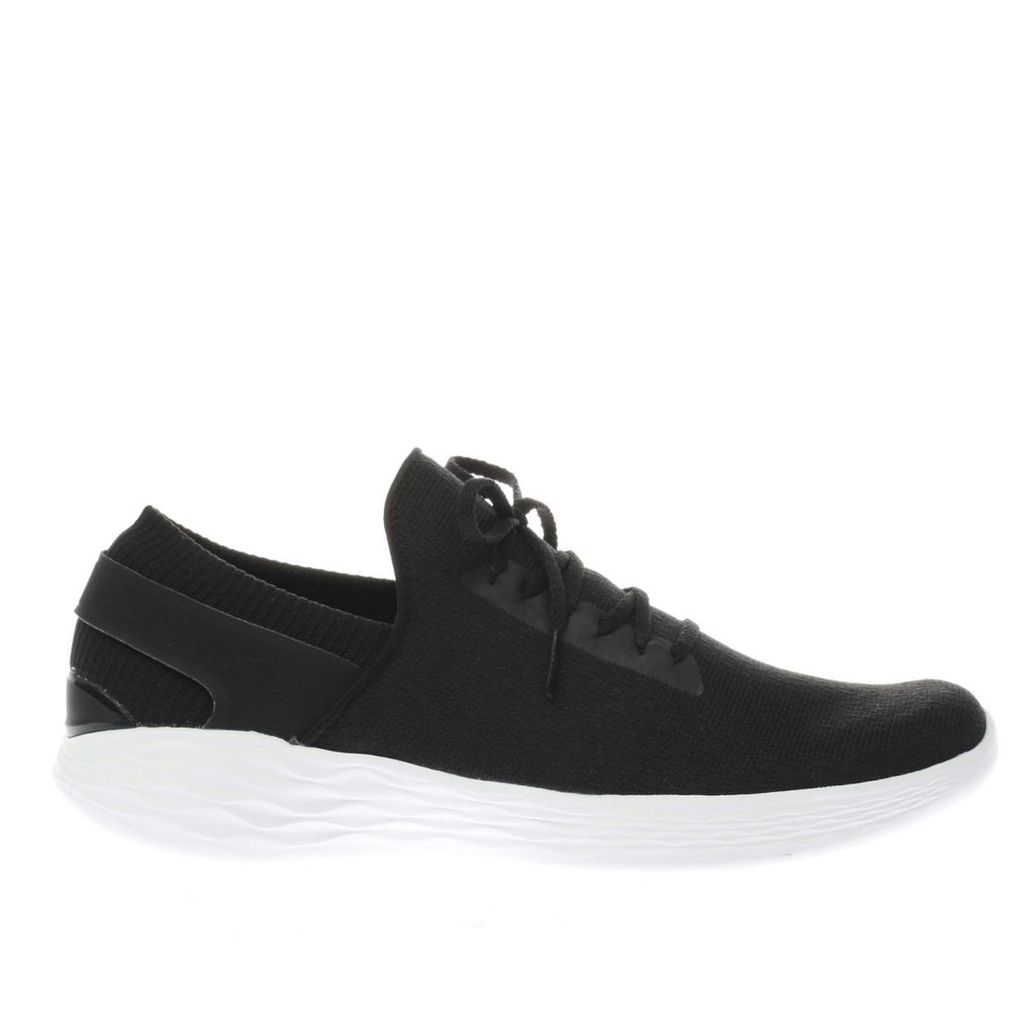 skechers black & white you inspire trainers