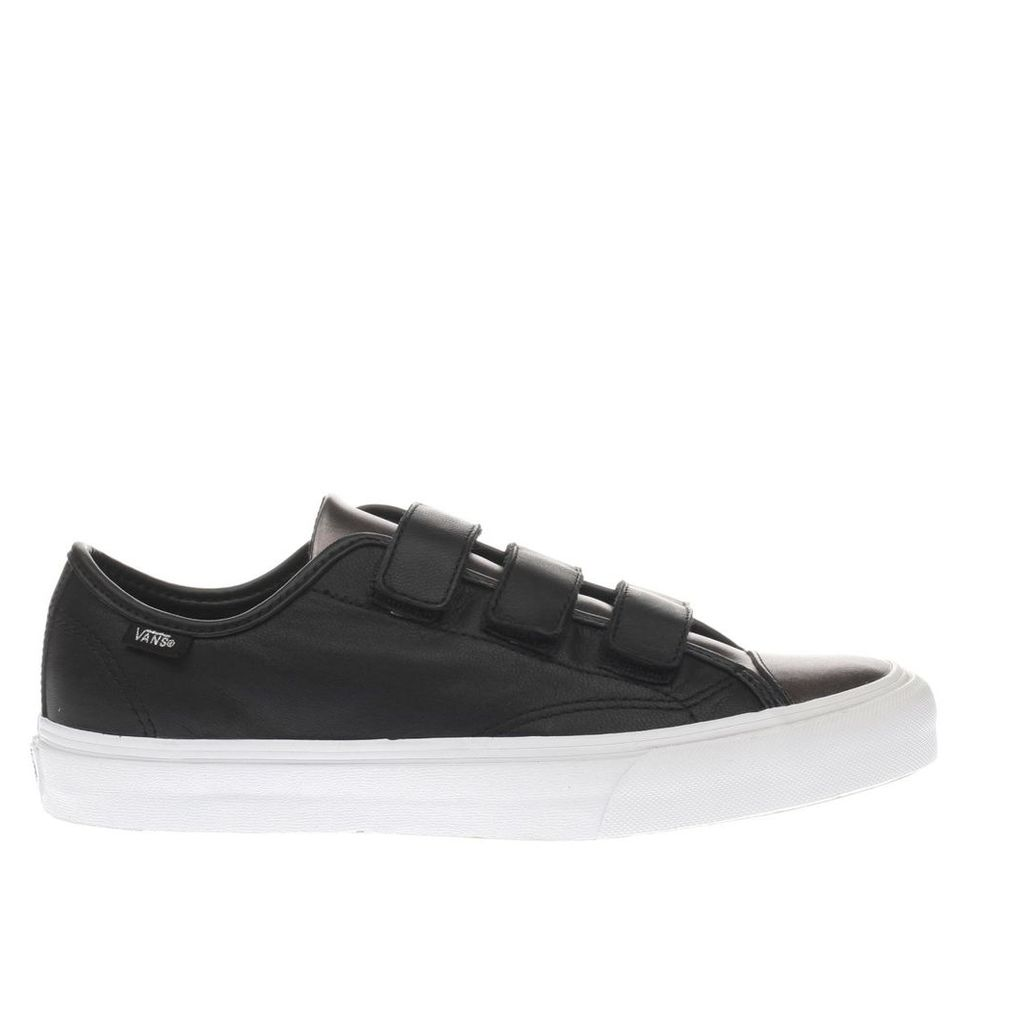 vans black & silver prison issue trainers