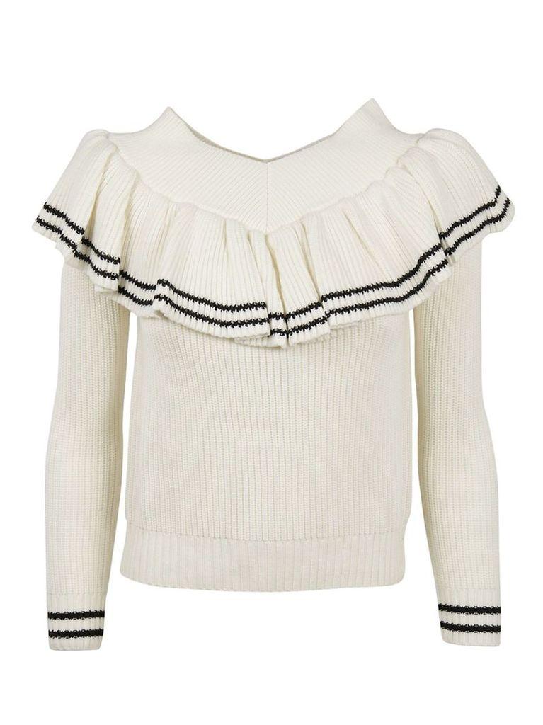 self-portrait Frill Detail Sweater