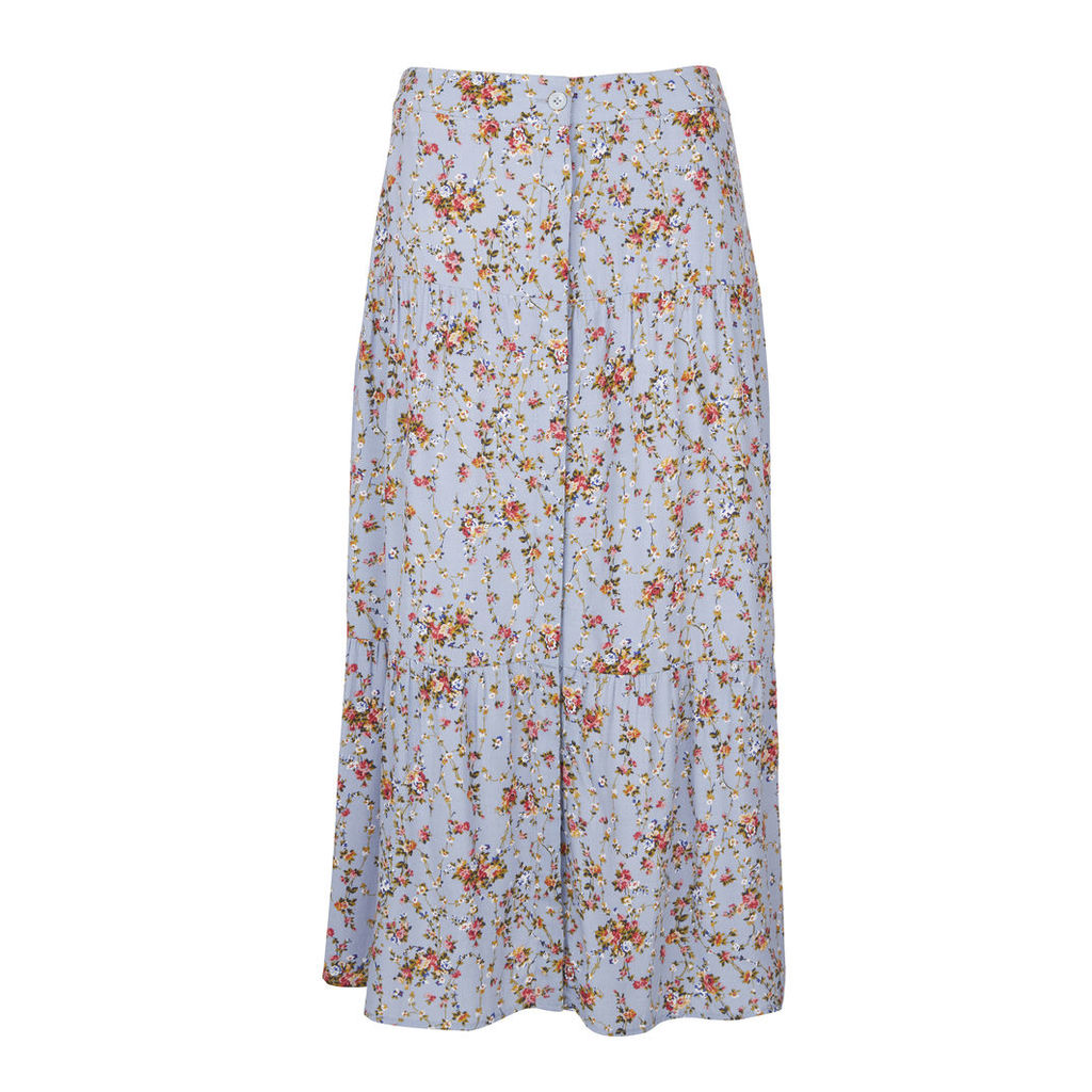 Ditsy Floral Tiered Long Skirt