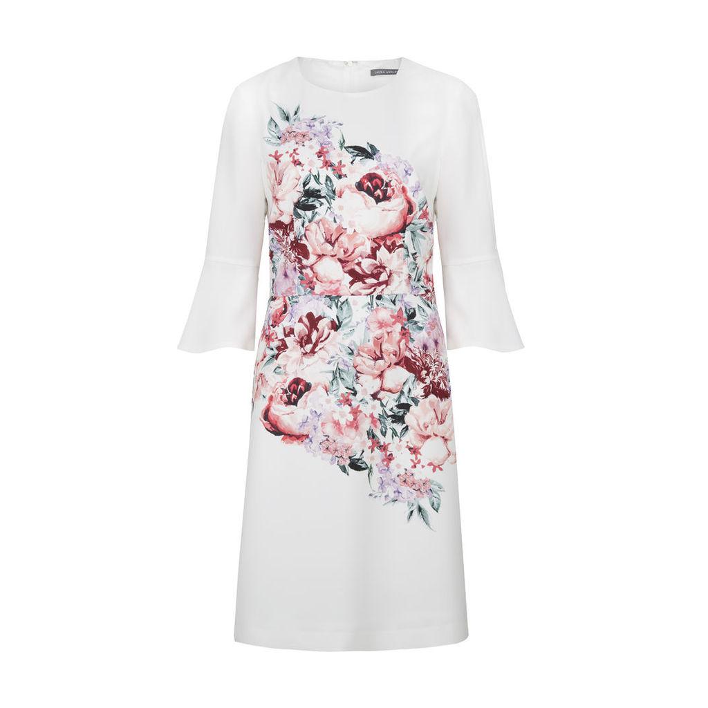 Peony Bouquet Print Shift Dress