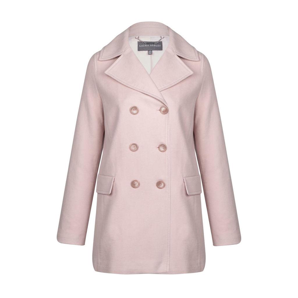 Pink Double Breasted Moleskin Pea Coat