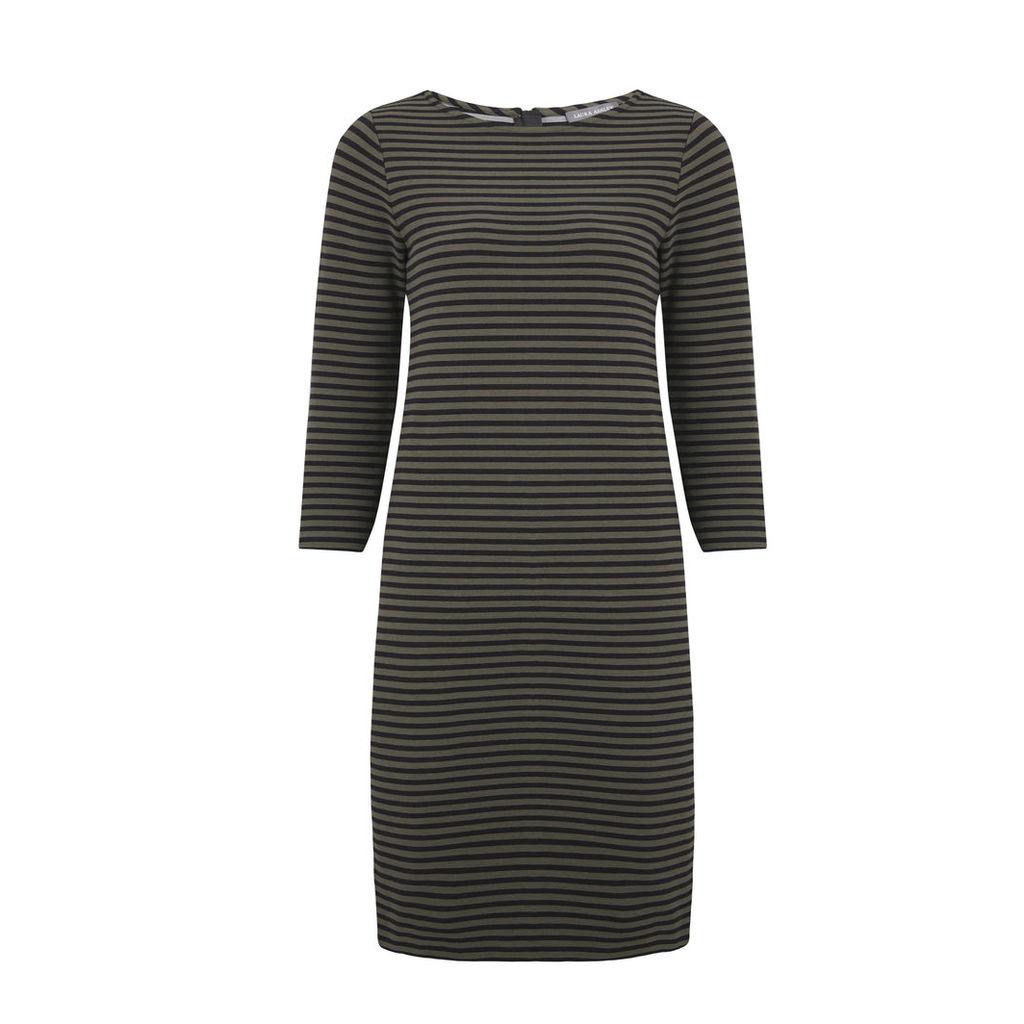 Stripy Textured Ponte Dress