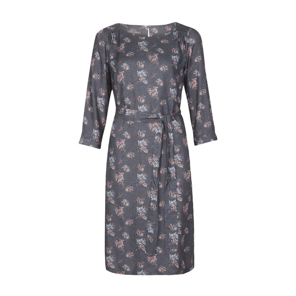 Sarasa Floral Belted Dress