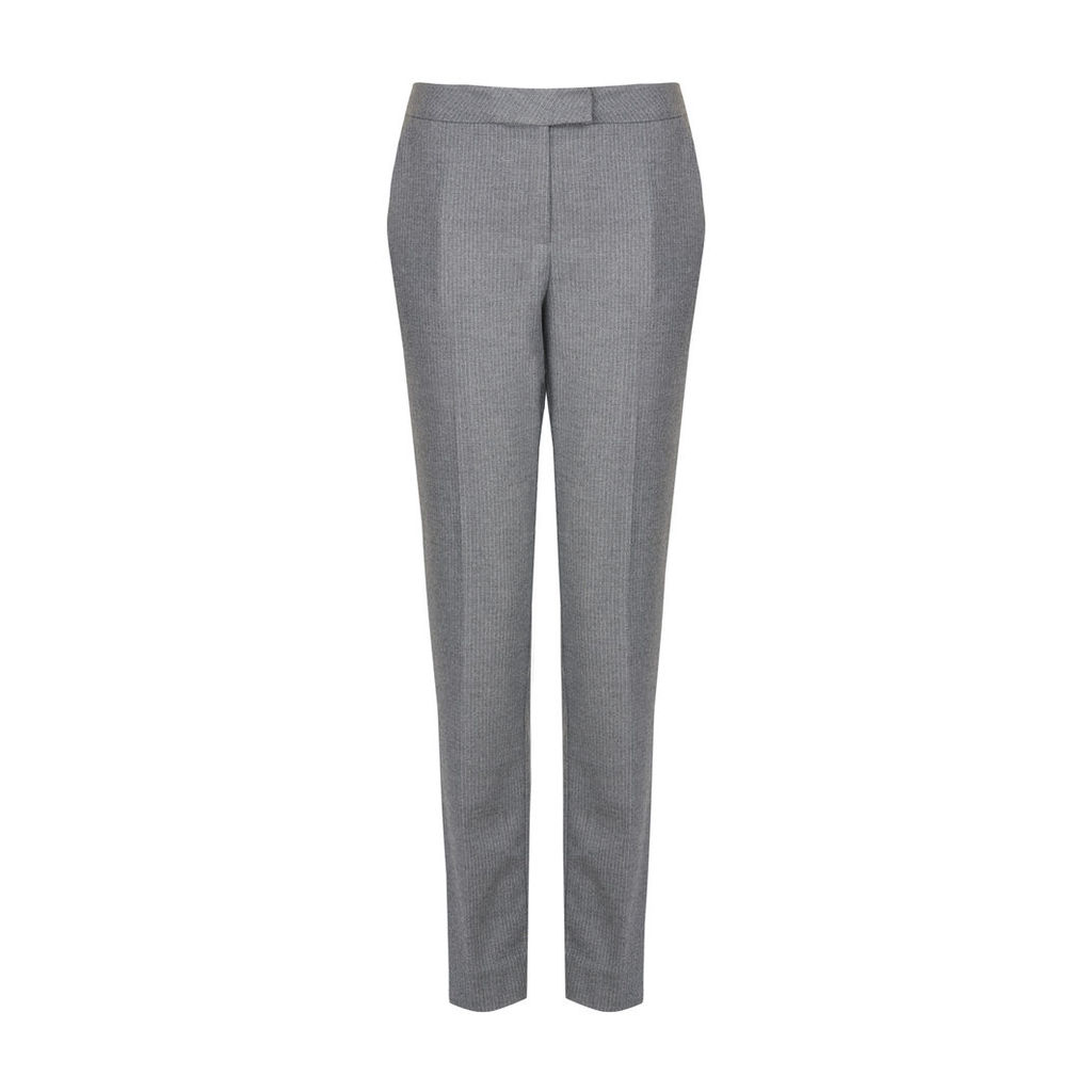 Grey Pinstripe Cafe Trousers