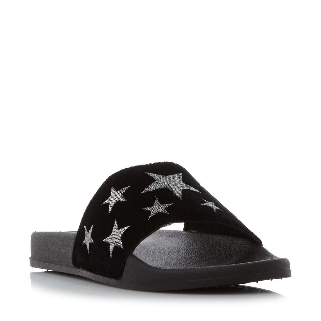 Head Over Heels Linders Star Pool Slider Sandals, Black