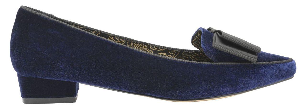 Ravel V&A Liceu Slip on Bow Detail Loafers, Blue