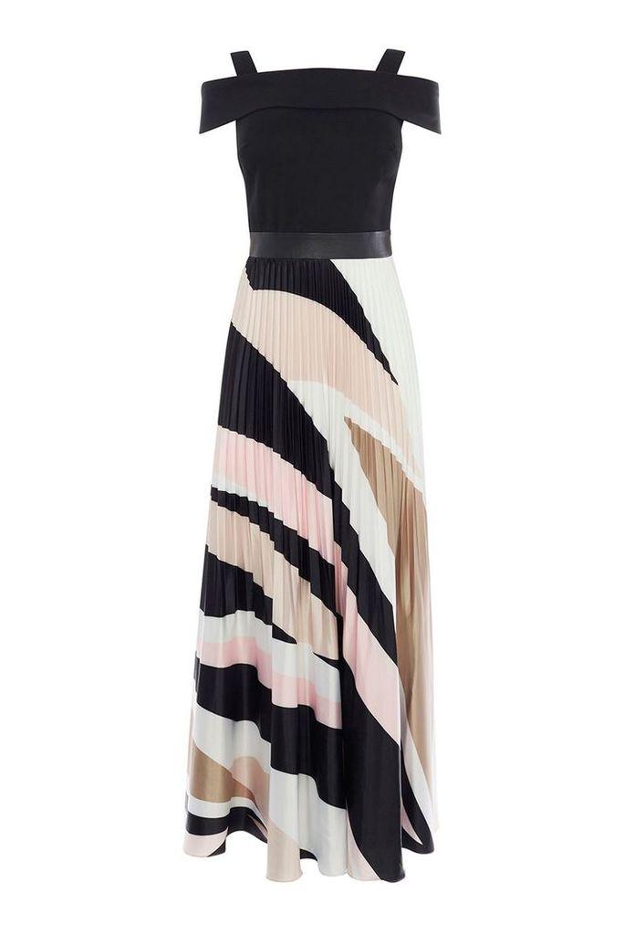 Coast Rockafella Pleated Maxi Dress, Multi-Coloured
