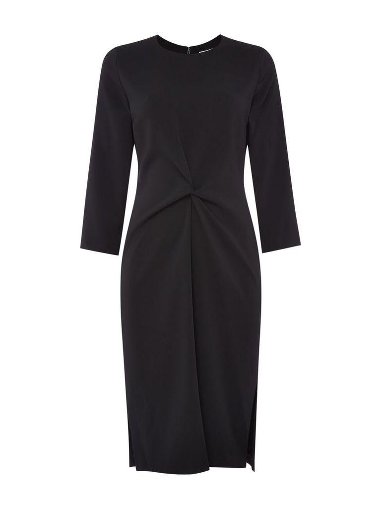 Linea Luna knot front dress, Black