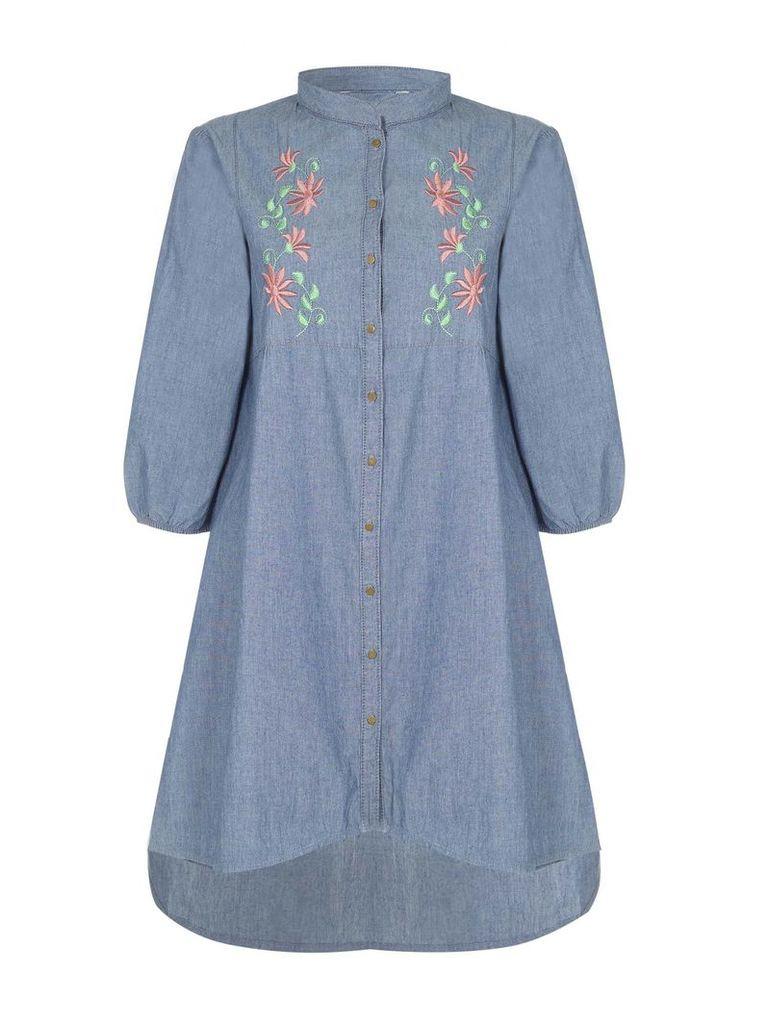 Yumi Floral Denim Dress, Blue